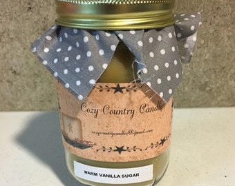 Warm Vanilla Sugar 16 oz candle