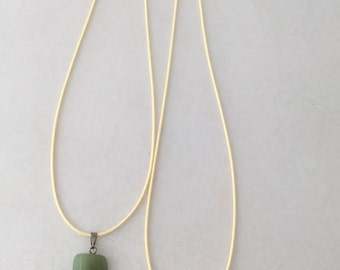 aventurine stone on various coloured waxed cord necklace