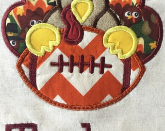 VT Hokie Inspired Turkey/Football short sleeved T-shirt