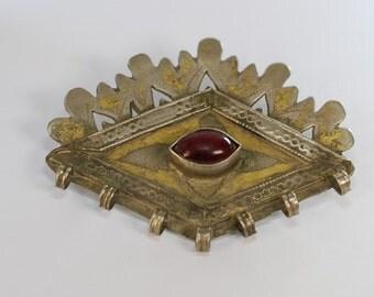 Vintage, Bohemian gypsy red eye pendant
