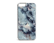 Electric Blue Marble Print Phone Case, Marble Case, Marble Print, Rubber Bumper Case, iPhone Case, iPhone Cover, iPhone Bumper \ bc-pp044