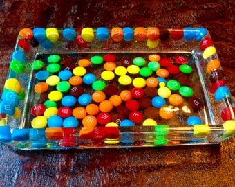 Candy filled resin tray, Fun gift.