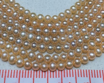 6-6.5mm Short potato pearls,high luster freshwater pearls,AA+,smooth pearl necklace,wholesale pearl strand,wedding pearls
