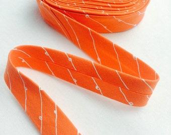 18mm Single Fold Bias Binding - Nectarine