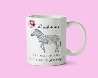 Gorgeous Watercolour Zebra Personalised Mug