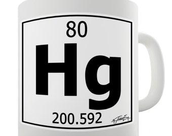 Periodic Table Of Elements Hg Mercury Ceramic Novelty Gift Mug