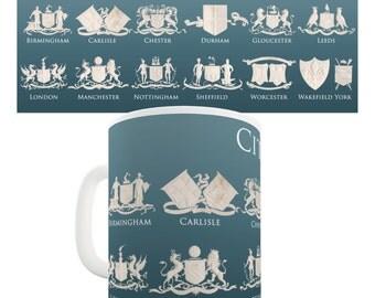 City Coat Of Arms Ceramic Novelty Gift Mug