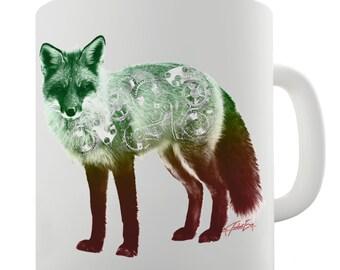 Clockwork Fox Ceramic Tea Mug