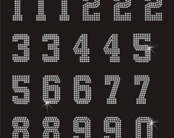 Numbers Rhinestone Applique