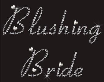 Wedding Blushing Bride Diamante Motif