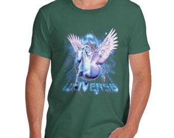 Men's Pegasus Unicorn Universe T-Shirt