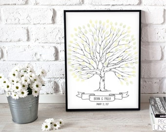 Printable wedding Tree, wedding tree poster, wedding reception book, wedding alternative, unique wedding gift ideas, wedding centrepiece