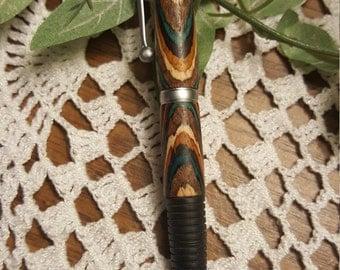 Dyed wood grain twist pen (handmade)
