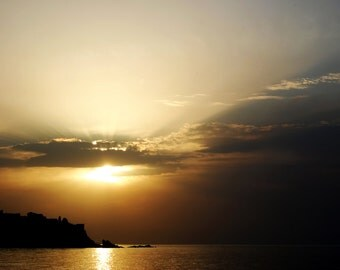 Picture of sunset on a beach in Sicily