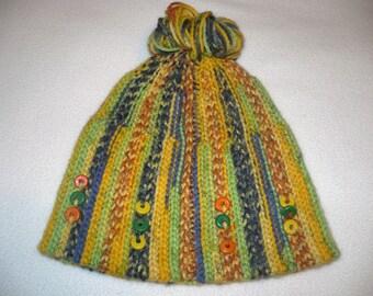 Crocheted, beaded hat