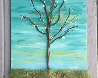 Rooted in Faith Tree // Home Decor Painting