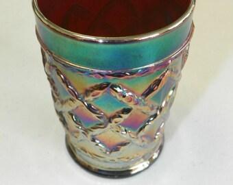 Very Rare CARNIVAL GLASS Goblet
