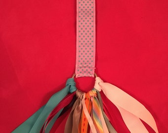 Kooky Colors Ribbon Keychain