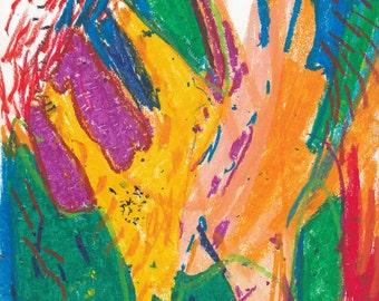 Ok; Oil Pastel on Paper