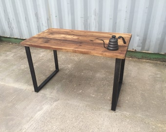 Industrial vintage, retro chic reclaimed wood table - 120cm length