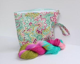 Flowers for you deer project bag sock yarn kit