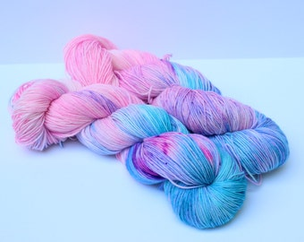 Cotton candy OOAK  75/25 SW Merino/nylon
