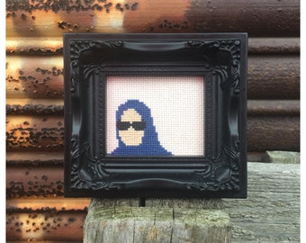 She doesn't even go here! Mean girls framed Cross Stitch