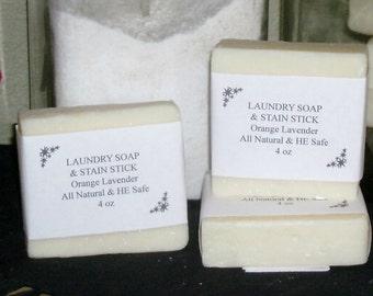 Laundry Soap Bar & Stain Stick Orange Lavender