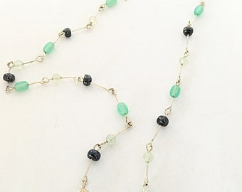 Hematite and Glass Beaded Necklace