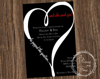 Printable Wedding Shower Invitation