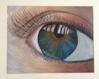 Eye Oil Pastel Drawing