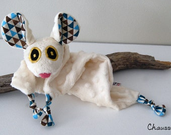 Mouse blankie - Stuffed Animal - Baby Shower Gift - Baby gift
