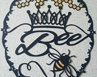 Queen Bee hand cut paper cut