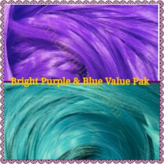 Blue Crush & Purple Rain 4 oz Nylon Re-rooting Doll Hair Value Pak for custom Barbie, My Little Pony, Crissy, Blythe Monster High Ever After