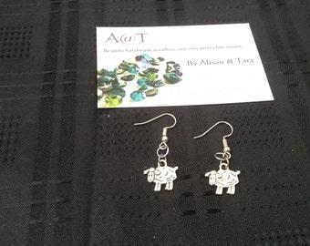 Sheep earrings
