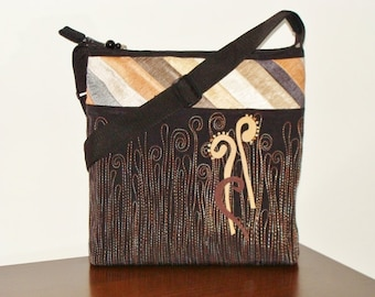 Bag shoulder bag, large craft. Single copy. Handmade. Patchwork.Bordados.