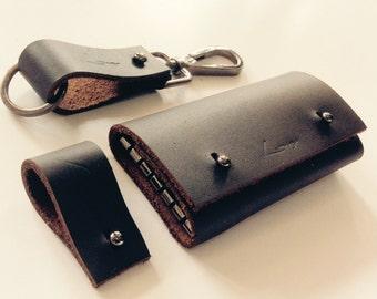 Stylish Leather Set | Handmade Leather Key holder set | Handmade Leather Gift Set | Gift for her | Gift for him | Stylish Gift Set