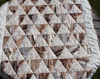 Handmade Patchwork Lap Quilt