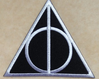 Harry Potter Deathly Hallows Logo Iron On Patch