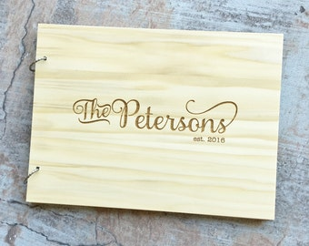 Wedding Guest Book Alternative | Unique Guest Book | Wood Guest Book | Rustic Guest Book | Personalized Guest Book | Engraved For You!