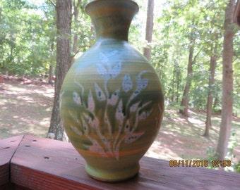 Unique Pacific Stoneware Pottery Vase