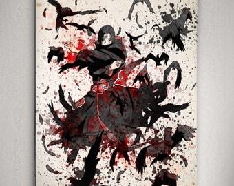 Itachi Uchiha Poster, Naruto Anime,Naruto Anime Poster, Naruto Shippuuden, Anime Watercolor Wall Art, Anime Poster, Anime Room Decor