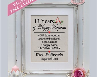 Wedding Gifts Years Married : 13th anniversary, 13 years married, 13 years together, gift for 13th ...