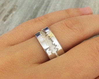 Voice recorded ring, waveform ring, I DO waveform ring, customized voice recorded right, sound ring, anniversary ring, custom ring band