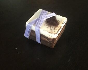 Coffee sugar scrub cube