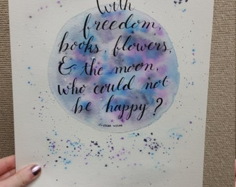 Watercolor Quote