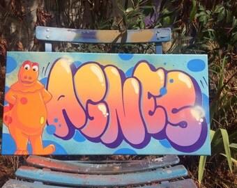 canvas AGNES CASIMIR graffiti deco streetart
