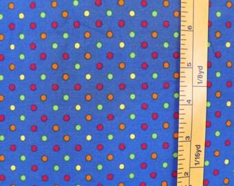 Robert Kaufman, Pimatex Basics, screen print D #BKT 6003, dark blue quilting fabric with multicolor dots