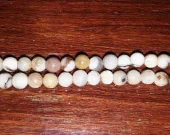 SALE! Ivory jasper beads ivory jasper 4mm round beads 4mm beads round beads off white beads antique white beads brown beads