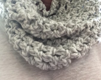 Ready to ship Chunky white and gray cowl